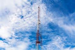 Télécommunication rouge et blanche Photos stock