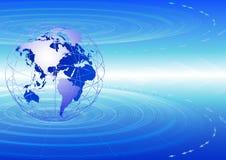 Télécommunications mondiales. Image stock