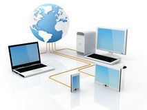 Télécommunications mondiales Photo stock
