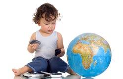 Télécommunications mondiales. Images libres de droits