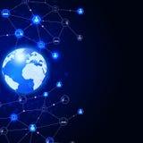 Télécommunications mondiales abstraites Photographie stock