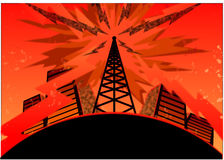 Télécommunications urbaines Images libres de droits