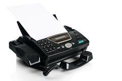 Télécopieur avec le document photo stock