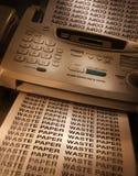 Télécopieur tirant des copies Photos libres de droits