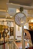Télégraphe de vitesse de salle des machines Photographie stock