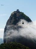 Téléphérique à la montagne Rio de Janeiro Brazil de Sugarloaf Images libres de droits