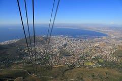 Téléphérique de montagne de Tableau, Afrique du Sud Image libre de droits