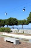 Téléphérique de Parque DAS Nações (endroit d'expo 98). Lisbonne, Portugal. Photos libres de droits