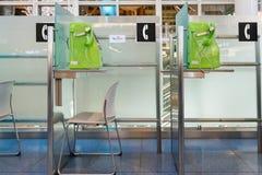 Téléphone à l'aéroport de Haneda Photographie stock libre de droits