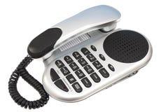 Téléphone argenté et noir Photo stock