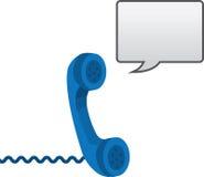 Téléphone avec la bulle de la parole illustration libre de droits