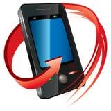 Téléphone avec la flèche Image libre de droits