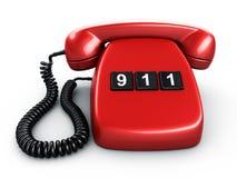 Téléphone avec un bouton Photo stock
