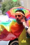 Téléphone Aviv Gay Pride Parade 2015 Photos libres de droits