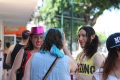 Téléphone Aviv Gay Pride Parade 2015 Image libre de droits