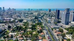 Téléphone Aviv Skyline Image libre de droits