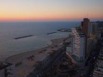 Téléphone Aviv Sunset Images libres de droits