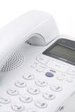 Téléphone blanc Photos stock