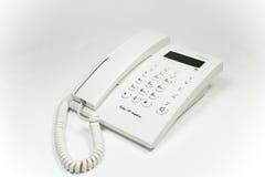 Téléphone blanc Image libre de droits