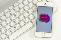 Téléphone blanc avec le clavier Images libres de droits