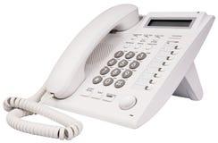 Téléphone blanc d'IP Photographie stock