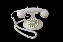 Téléphone blanc (IOB) Images stock