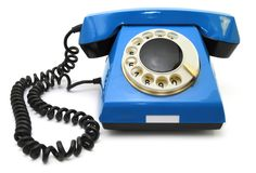 Téléphone bleu Images stock