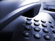 Téléphone bleu Photo stock