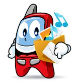 téléphone cellulaire de la mascotte 3 Image libre de droits
