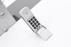 Téléphone classique blanc Photo libre de droits