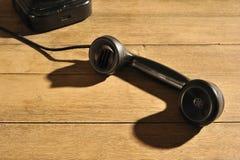 Téléphone classique outre du crochet Images libres de droits