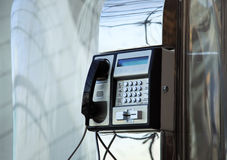 Téléphone d'aéroport Image stock