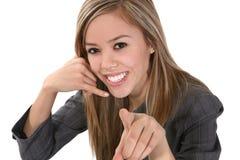 Téléphone d'affaires simulant l'appel téléphonique Images stock