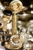 téléphone d'or antique Image libre de droits