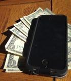 Téléphone d'argent Photos stock