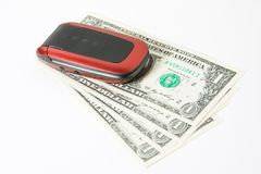 téléphone d'argent de cellules Photos libres de droits