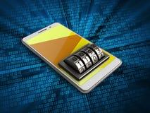 téléphone 3d blanc Image libre de droits