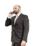 Téléphone d'homme d'affaires Photos stock