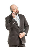 Téléphone d'homme d'affaires Image libre de droits