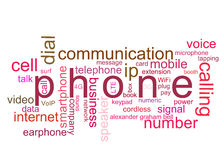 Téléphone d'illustration Images libres de droits