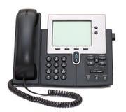 Téléphone d'IP d'isolement sur le blanc Image libre de droits