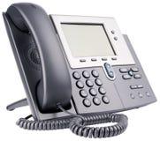 Téléphone d'IP de bureau sur le blanc photo stock