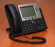 Téléphone d'IP sur une table photo libre de droits