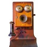 Téléphone d'isolement de cru Photographie stock