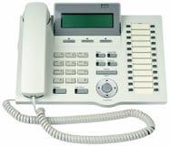 téléphone d'isolement digital de bureau Photos stock