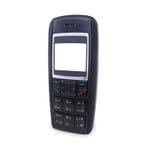 téléphone d'isolement par cellule blanc noire photos stock