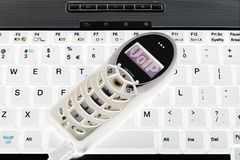 Téléphone d'USB de VoIP Photo libre de droits