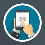 Téléphone dans des mains Vecteur Photos libres de droits