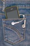 Téléphone dans la poche Photos stock