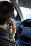 Téléphone dans le véhicule Image libre de droits